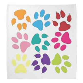 Dog And Cat Paw Prints Bandana
