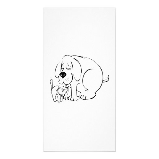 Dog and Cat Picture Card