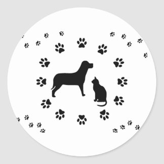 Dog and Cat Sticker