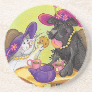 Dog and Cat Tea Party / Coaster