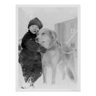 Dog and Child Nome Alaska 1926 Poster