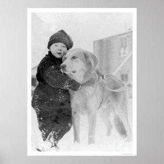 Dog and Child Nome Alaska 1926 Poster