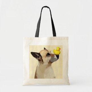 Dog and Duck Budget Tote Bag