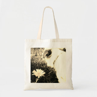 Dog and Flower Tote Bag