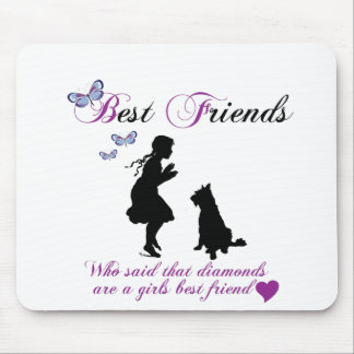 Dog and girl best friends mousepads
