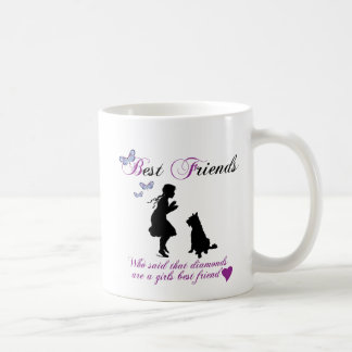 Dog and girl best friends coffee mug