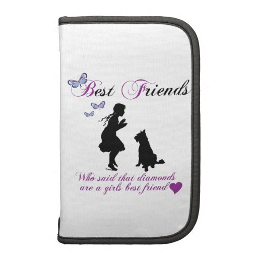 Dog and girl best friends folio planner