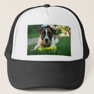 Dog and His Toy Bone Trucker Hat