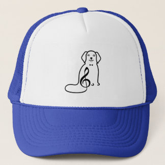 DOG AND MUSIC NOTE TRUCKER HAT