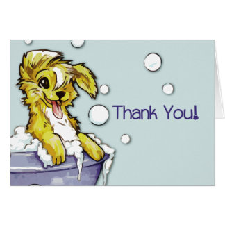 Dog and Pet Groomer Referral - Doggie Bubble Bath Card