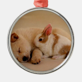 Dog and rabbit ornaments