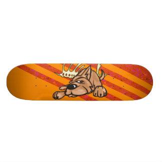 Dog and Skeleton Bones Custom Skateboard
