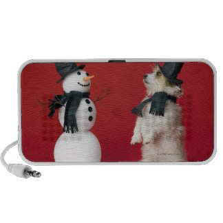 Dog and Snowman Mp3 Speakers