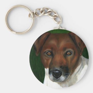 Dog Art - Jack Russell Terrier - Otis Key Ring