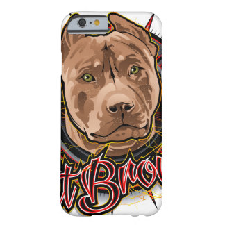 dog art radical pit bull brown and red barely there iPhone 6 case