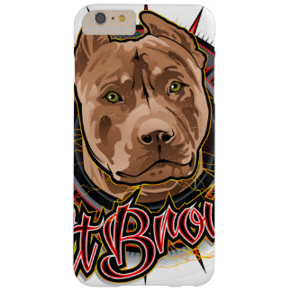 dog art radical pit bull brown and red barely there iPhone 6 plus case