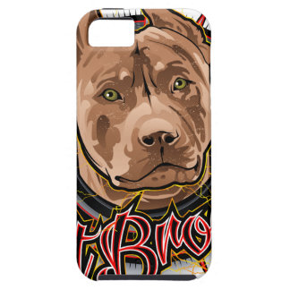 dog art radical pit bull brown and red iPhone 5 cases