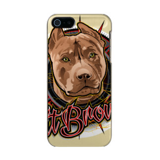 dog art radical pit bull brown and red incipio feather® shine iPhone 5 case