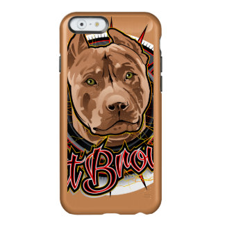 dog art radical pit bull brown and red incipio feather® shine iPhone 6 case