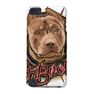 dog art radical pit bull brown and red iPod touch 5G cases