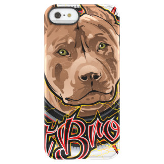 dog art radical pit bull brown and red permafrost® iPhone SE/5/5s case