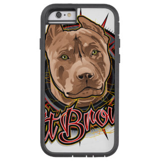 dog art radical pit bull brown and red tough xtreme iPhone 6 case