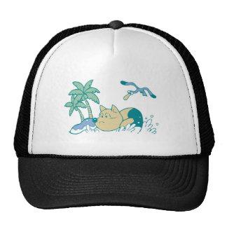 Dog at Beach Tshirts and Gifts Cap