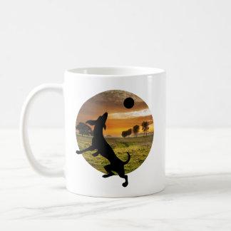 Dog at play coffee mug