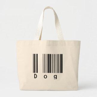 Dog Barcode Large Tote Bag