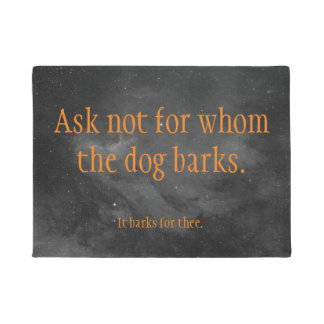 dog bark welcome doormat