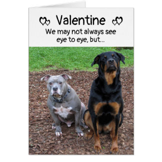 Dog Barks and Woofs Valentine's Day Card