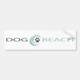 Dog Beach bumper sticker