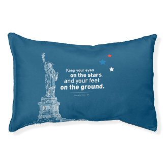 Dog Bed - Roosevelt Quote CUSTOM COLOR EDITABLE