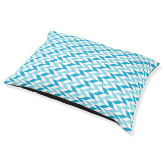 Dog Bed Turquoise Pattern