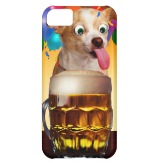 dog beer-funny dog-crazy dog-cute dog-pet dog iPhone 5C case