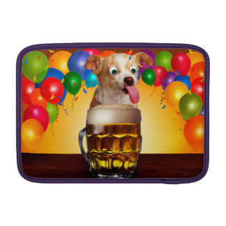 dog beer-funny dog-crazy dog-cute dog-pet dog MacBook sleeve
