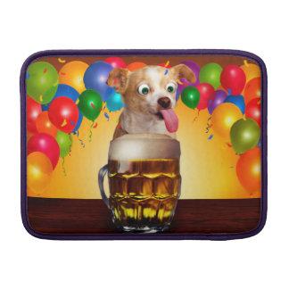 dog beer-funny dog-crazy dog-cute dog-pet dog MacBook sleeve