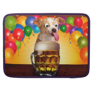 dog beer-funny dog-crazy dog-cute dog-pet dog sleeve for MacBook pro