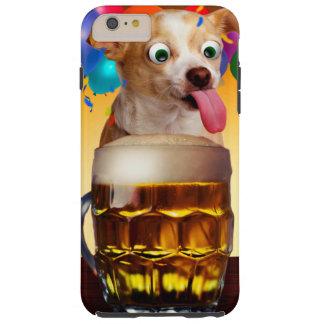 dog beer-funny dog-crazy dog-cute dog-pet dog tough iPhone 6 plus case