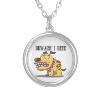 Dog Beware I Bite Necklace