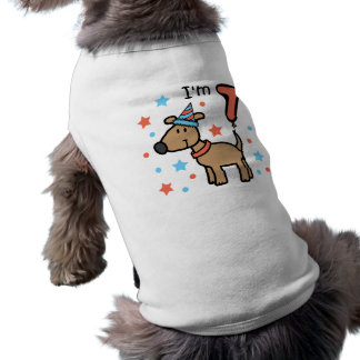 Dog Birthday 7 Doggie Tee Shirt