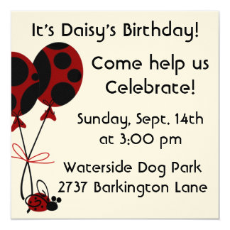 Dog Birthday Invites