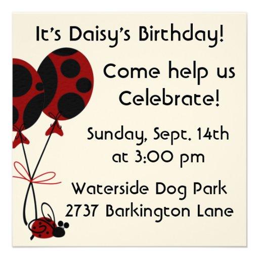 Dog Birthday Invites