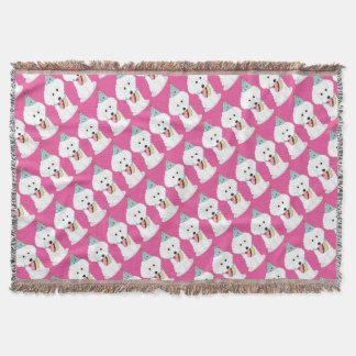 Dog Birthday Throw Blanket