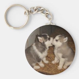 dog biting dogs mouth key ring