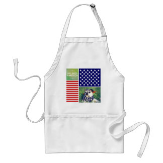 Dog Bless America Patriotic Apron