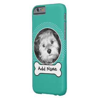 Dog Bone and Custom Pet Photo Barely There iPhone 6 Case
