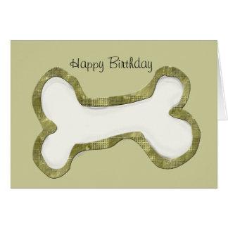 Dog Bone Art Gifts Card
