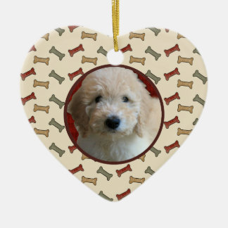 Dog Bone Christmas Puppy Picture Holiday Frame Christmas Tree Ornament