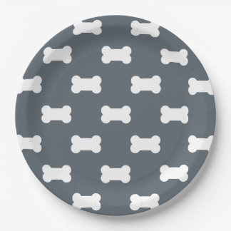 dog bone custom paper plate